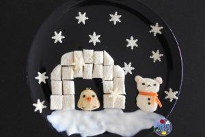 Rilakkuma Snowman and Igloo Winter Food Art