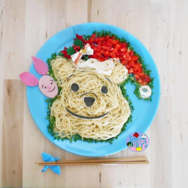 Winnie the Pooh Christmas bento