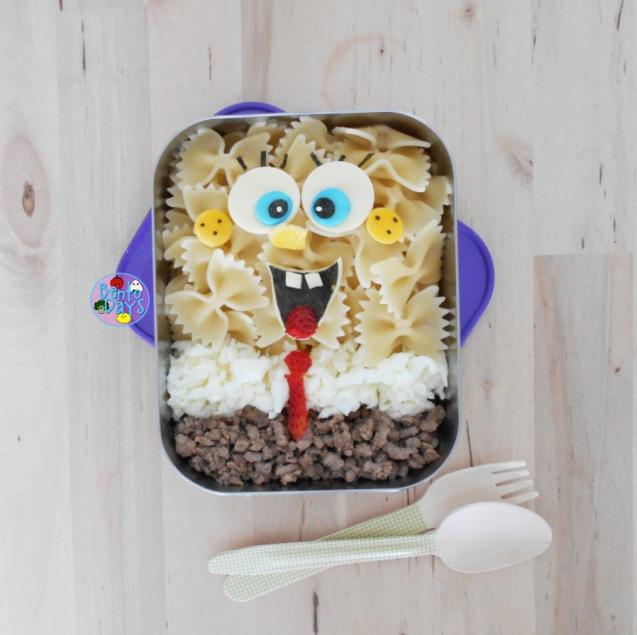 Spongebob Pasta bento