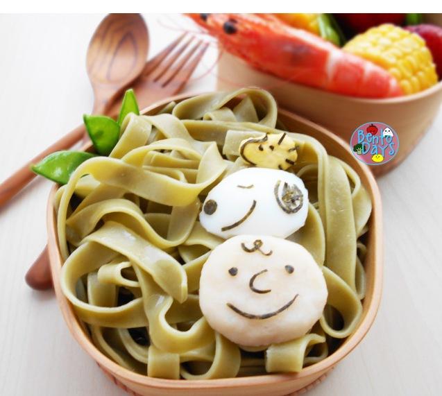 Snoopy pasta bento