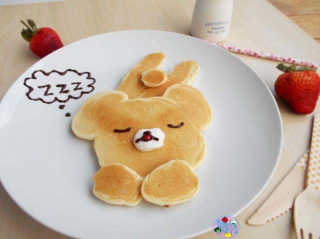 Sleepy Rilakkuma pancakes