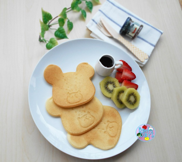 Jackie the bear's school pancakes