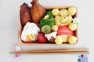 Winnie the Pooh bento and tutorial