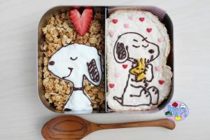 Snoopy Valentines Bento