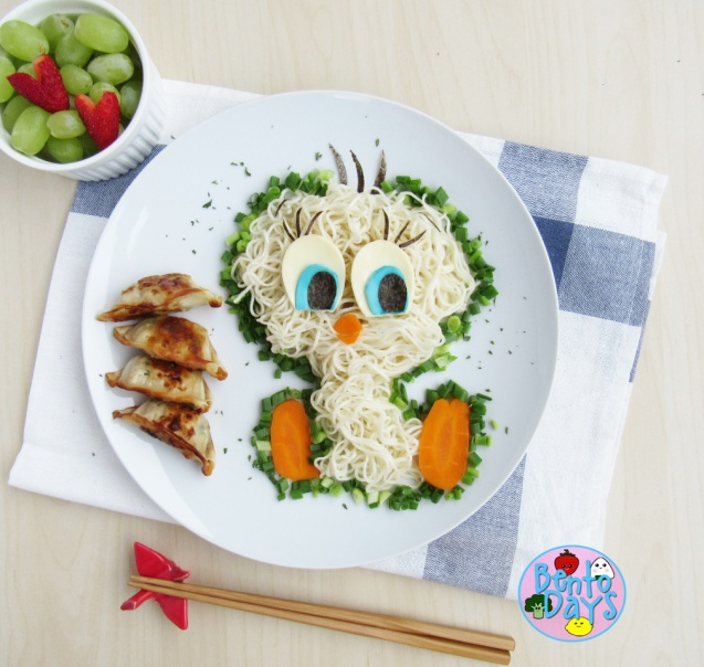 Tweety Bird Noodles Bento