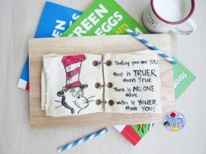 Dr Seuss Toast Art Book Bento Snack