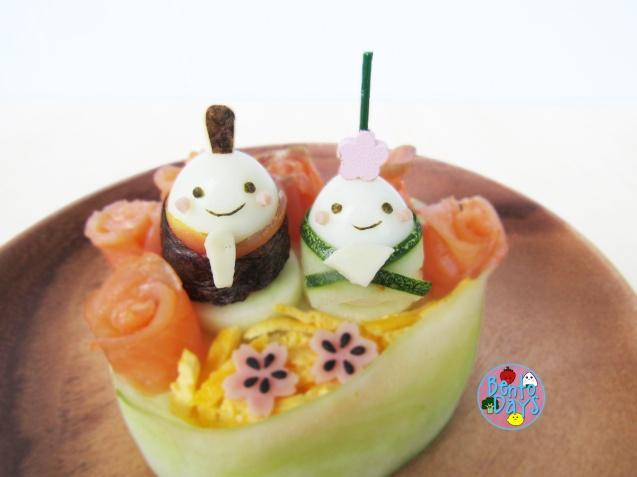Hinamatsuri Sushi Cake Bento