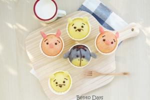 Tsum Tsum deco steamed cakes bento