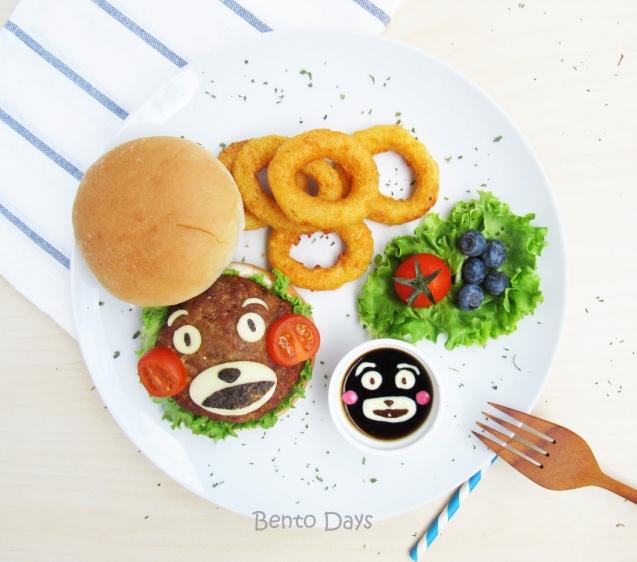 Kumamon Burger Bento