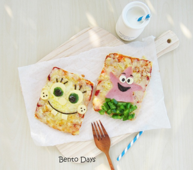 Spongebob pizza bento