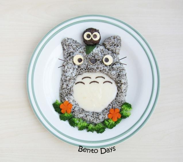 Totoro Cream Stew Bento