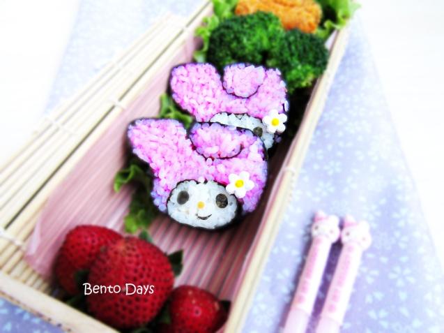 My Melody sushi bento