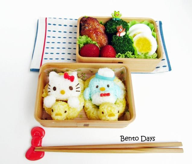 Hello Kitty Swimming Bento