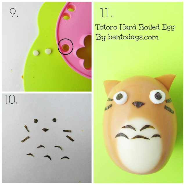 Totoro hard boiled egg tutorial