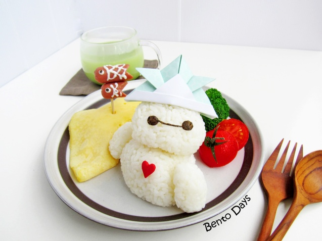 Baymax koinobori Children's Day bento