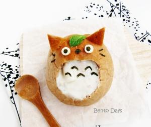 Totoro bread bowl bento