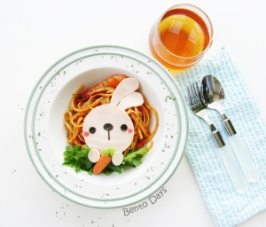 Bunny pasta bento
