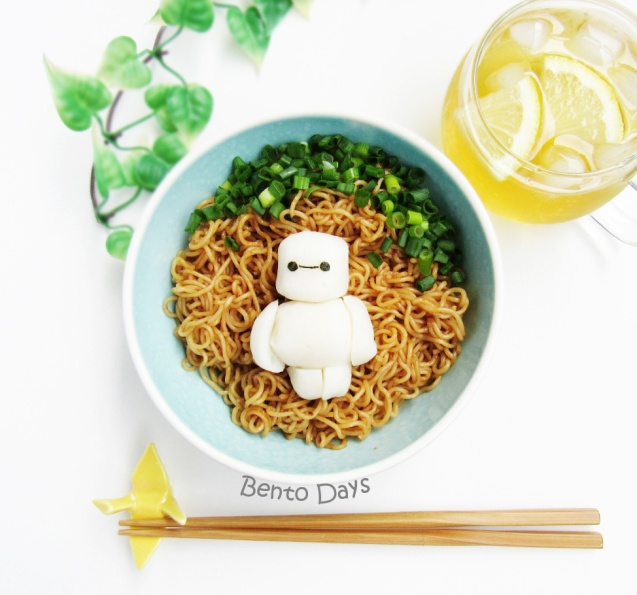 Baymax fishball noodle bento