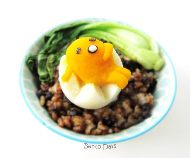 Gudetama bento with Taiwanese braised pork rice (Lu Rou Fan)