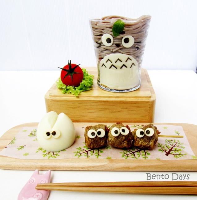 Totoro soba bento