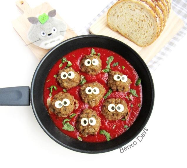 Totoro's Makkuro kurosuke Italian meatballs recipe