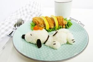 Sleeping Snoopy food art