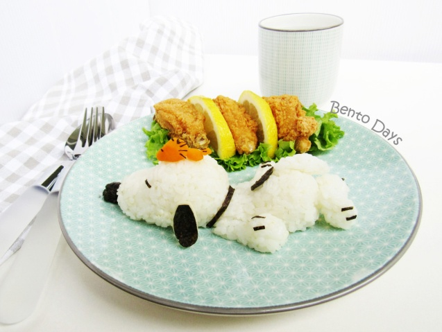 Sleeping Snoopy food art