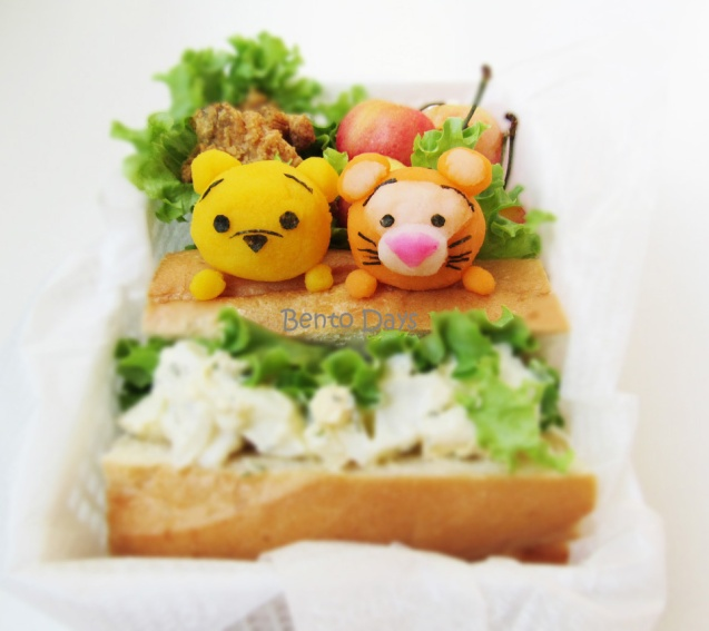 Pooh and Tigger Tsum Tsum lunch bento
