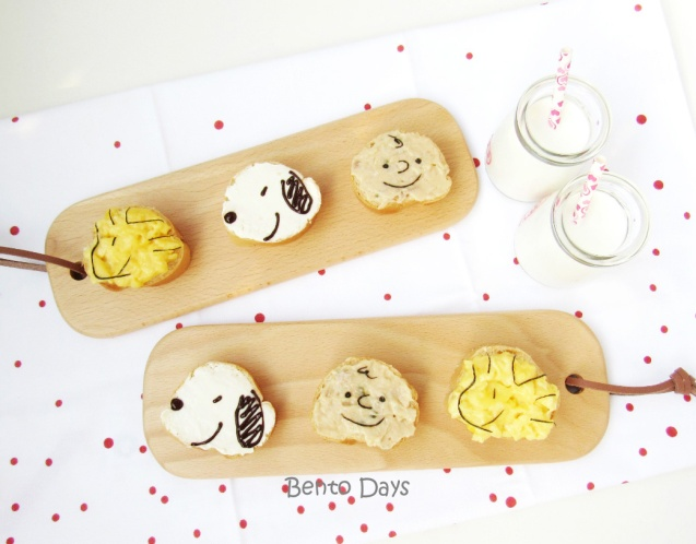 Snoopy sandwich food art