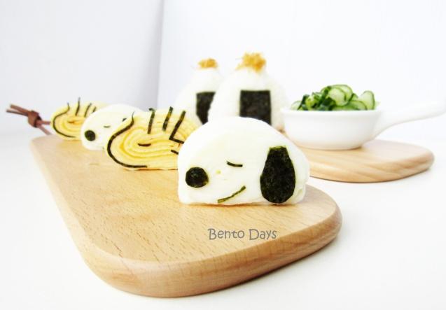 Snoopy tamago sushi bento