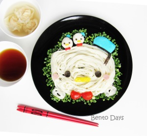 Donald Duck Tsum Tsum somen noodles food art bento