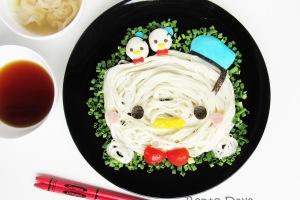 Donald Duck Tsum Tsum somen noodles food art bento