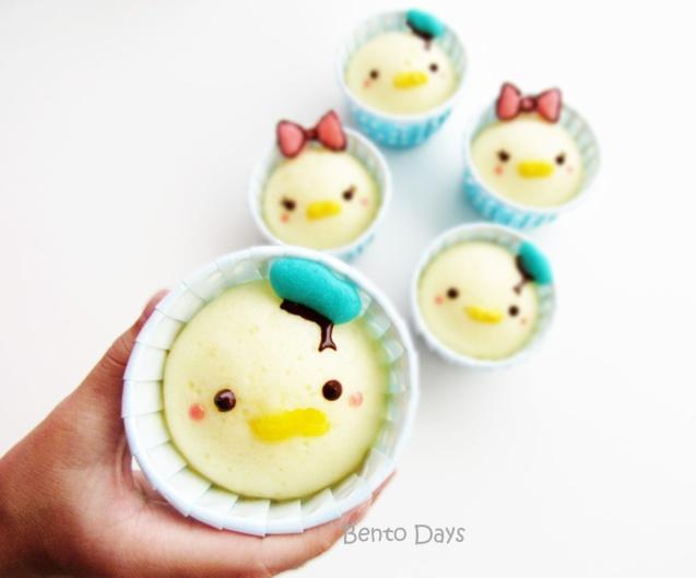 Donald Tsum Tsum deco steamed cakes bento