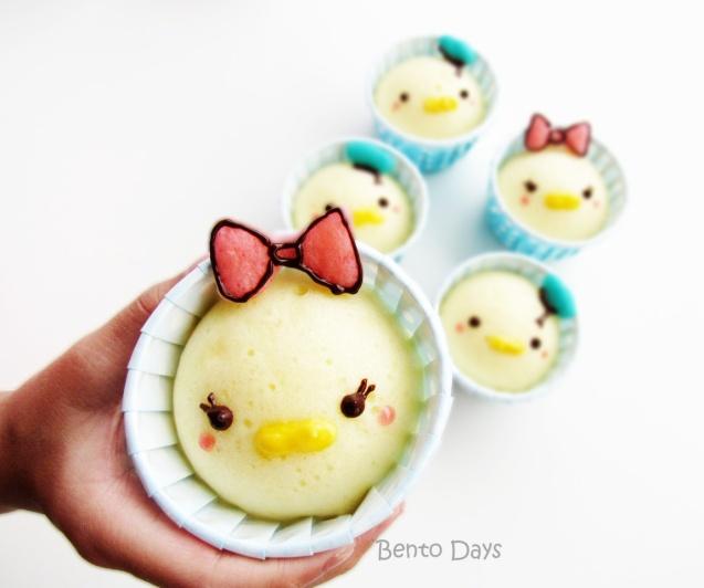 Daisy Tsum Tsum deco steamed cakes bento