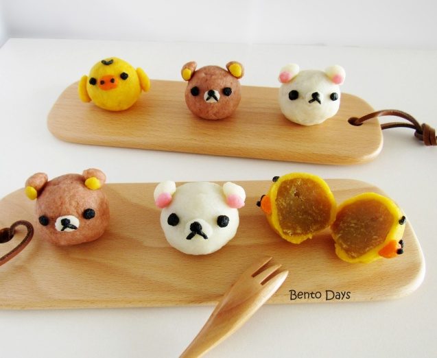 Rilakkuma snowskin mooncakes cute deco mooncakes