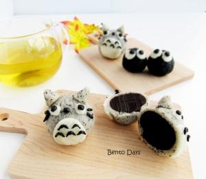 Totoro snowskin mooncake cute deco mooncake