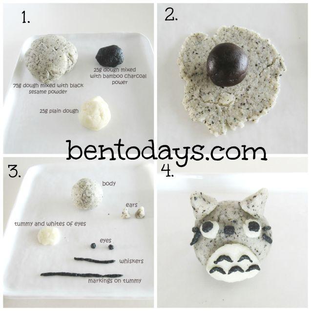 Totoro snowskin mooncake tutorial