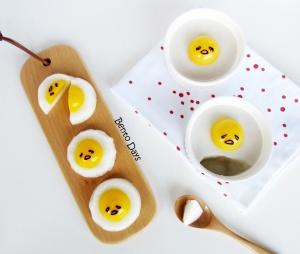Gudetama pudding and Gudetama jelly