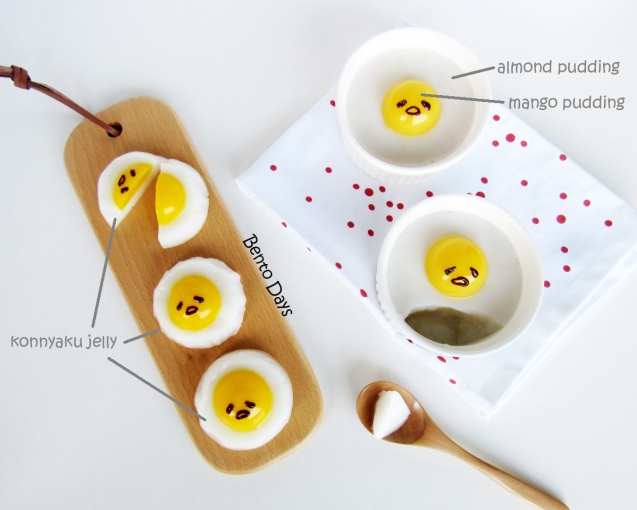 Gudetama pudding and Gudetama jelly