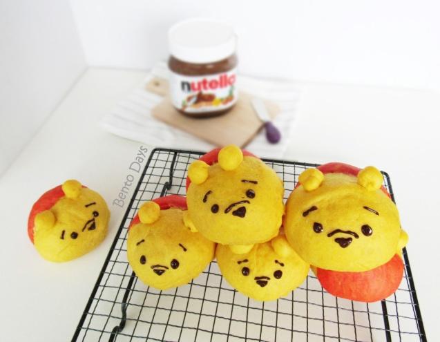Pooh Tsum Tsum bread buns
