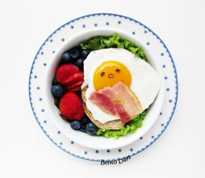 Gudetama egg on toast breakfast