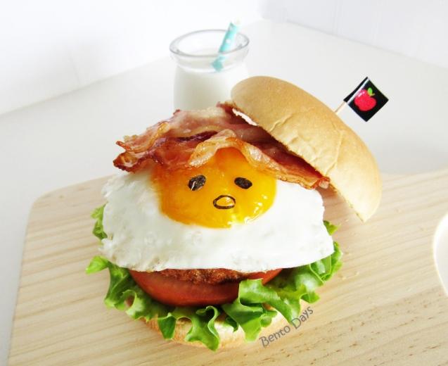 Gudetama burger bento