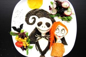 Jack Skellington Halloween bento food art