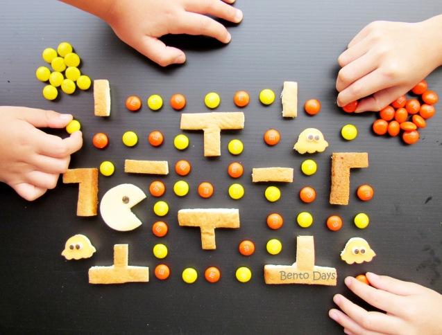 Halloween PacMan food art
