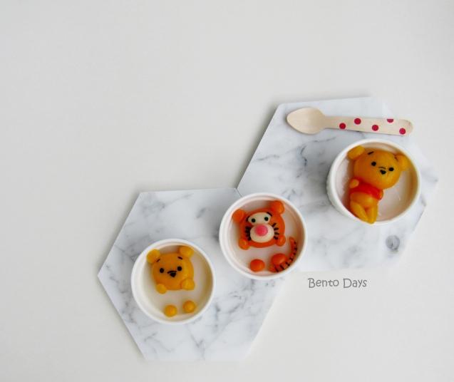 Pooh and Tigger Shiratama Pudding