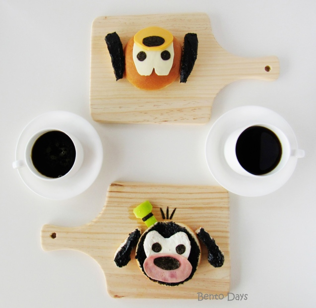 Pluto and Goofy Tsum Tsum food art breakfast bento
