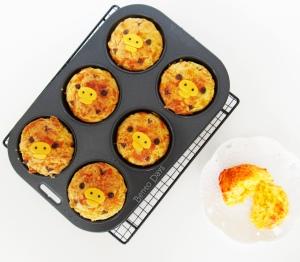 Kiiroitori Garlic Cheese Muffins