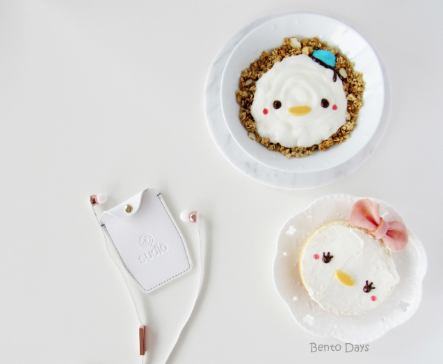 Donald and Daisy Tsum Tsum food art breakfast bento