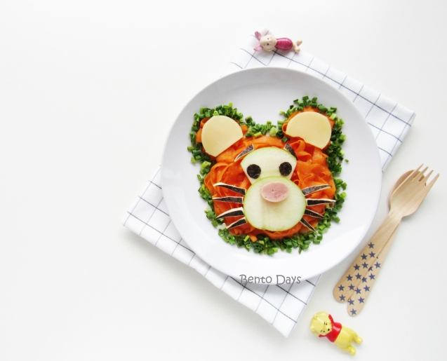 Tigger Tsum Tsum carrot salad food art bento