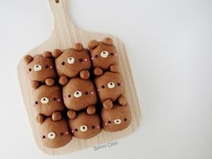 Teddy Bear Cocoa Pull-Apart Bread Buns